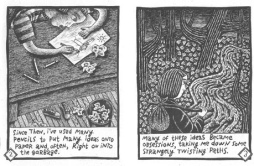 "From ""Ink Spots"", Debbie Drechsler's first (self-published) graphic narrative"