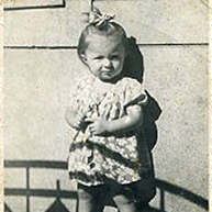 Miriam Katin, Budapest, Hungary, 1944-1945 (Age 1-2)