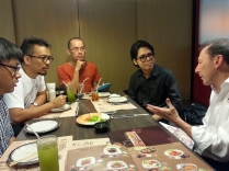 Press: Radio interview with David Lloyd for RadioMANGA by Thai cartoonists Suttichart Sarapaiwanich, Eakasit Thairaat and Songsin Tiewsomboon.