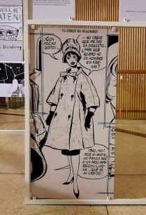 At the PRESENTES comics exhibition (Spanish Female Cartoonists of Yesterday and of Today). Detail of a page by Spanish female cartoonist Maria Pascual (1933-2011).