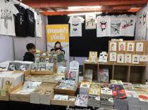 "The ""Bang Bang You're Dead!"" zine was on sale at the booth of the Thai indie comics publishing house KAI3."
