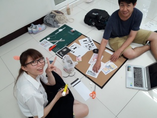 "Mounting the exhibition ""Traumics: a Medium of Fragments for a Shattered Mind"" displaying 18 Trauma-related comics narratives composed by students at Chulalongkorn University."