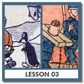 """Zig et Puce"" by Alain Saint-Ogan (FR), and ""Tintin"" by Hergé (BE)"