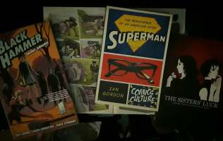 """Singaporean purchase: """"Black Hammer tpb #1"""" (because Luc Brunschwig says it's good), Thai Comics """"The Sister's Luck"""" by Shari Chankhamma, Anders Nilsen's """"Wolverine"""" (in """"The Unbeatable Squirrel Girl - Zine Issue""""), and """"Superman: The Persistence of an American Icon"""" by Ian Gordon (thank you, Ian, for the gift)."""