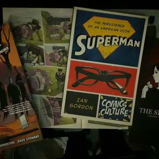 "Singaporean purchase: ""Black Hammer tpb #1"" (because Luc Brunschwig says it's good), Thai Comics ""The Sister's Luck"" by Shari Chankhamma, Anders Nilsen's ""Wolverine"" (in ""The Unbeatable Squirrel Girl - Zine Issue""), and ""Superman: The Persistence of an American Icon"" by Ian Gordon (thank you, Ian, for the gift)."