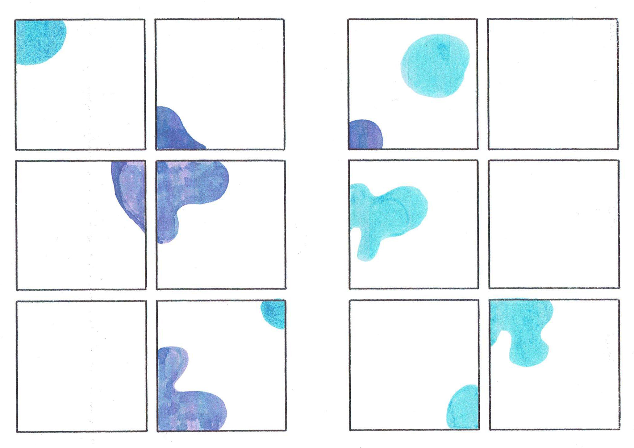 Imposed abstract comics page #UltraVioletChallenge