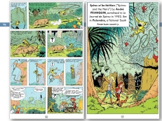 "Pages from ""Spirou et les héritiers"" (""Spirou and the Heirs"") by André Franquin, serialized in ""Le Journal de Spirou"" (Dupuis) in 1952. Set in Palombia, a fictional South American country, and introducing the Marsupilami character for the first time."