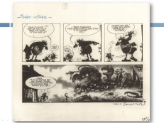 "Original artwork for ""Les Idées Noires"" (""Die Laughing"") by André Franquin."