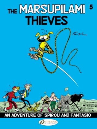 "Cover of ""Spirou and Fantasion: The Marsupilami Thieves"" available in English from Cinebook."