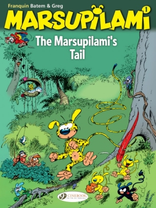 "Cover of ""The Marsupilami #01: The Marsupilami's Tail"" available in English from Cinebook."
