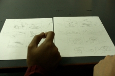 Marsupilami comics layouts by CommDe student Zam (and commented by ajarn Oat Montien).